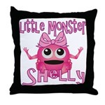 Little Monster Shelly Throw Pillow