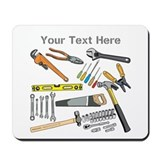 Tools with Gray Text. Mousepad