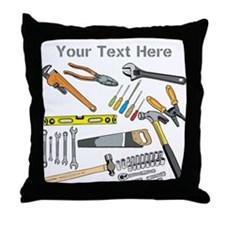 Tools with Gray Text. Throw Pillow
