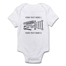Wrenches with Text. Infant Bodysuit