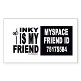 Inky Stringhead Rectangle Decal