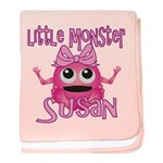 Little Monster Susan baby blanket