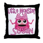 Little Monster Susan Throw Pillow