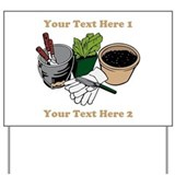 Gardening. Custom Text Yard Sign