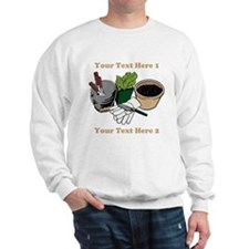 Gardening. Custom Text Sweatshirt