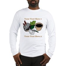 Gardening. Custom Text Long Sleeve T-Shirt