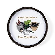 Gardening. Custom Text Wall Clock