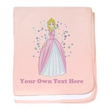 Princess. Custom Text. baby blanket