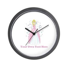 Princess. Custom Text. Wall Clock