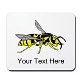 Wasp, with Custom Text. Mousepad
