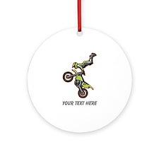 Motocross Jump Ornament (Round)