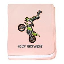 Motocross Jump baby blanket