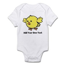 Cute Chick. Black Text Onesie