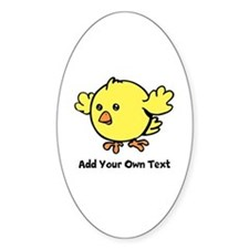 Cute Chick. Black Text Decal