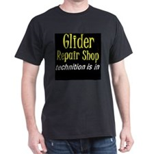 Glider Repair Shop Black T-Shirt