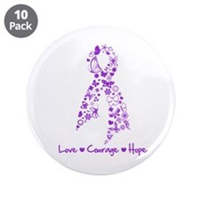 "Sjogren Syndrome Ribbon 3.5"" Button (10 pack)"