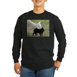 LET'S BE FRIENDS Long Sleeve Dark T-Shirt
