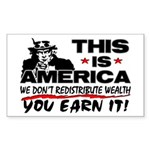 """""""This Is America!"""" Sticker (Rectangle)"""