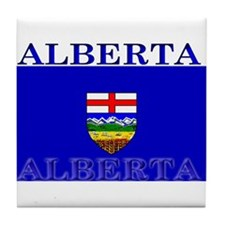 Alberta Albertan Flag Tile Coaster