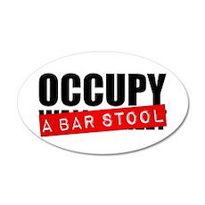 Occupy A Bar Stool 22x14 Oval Wall Peel
