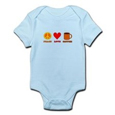Peace Love Coffee Infant Bodysuit