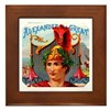 Alexander the Great Cigar Label Framed Tile