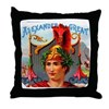 Alexander the Great Cigar Label Throw Pillow