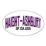 HAIGHT ASHBURY SF Oval Decal