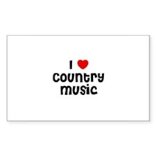 I * Country Music Rectangle Decal