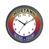 Cute 2011 mustang Wall Clock