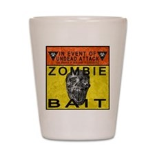 Zombie Bait Label Shot Glass