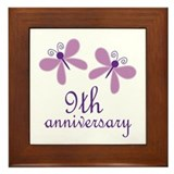 9th Anniversary (Wedding) Framed Tile