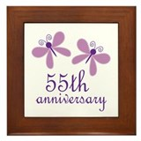 55th Anniversary (Wedding) Framed Tile