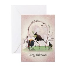 Cute Halloween witch Greeting Card