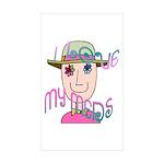 I Love My Meds Sticker (Rectangle 50 pk)