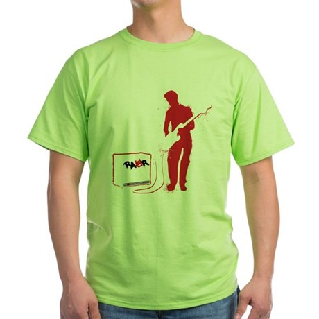 Rock Guitarist Green T-Shirt