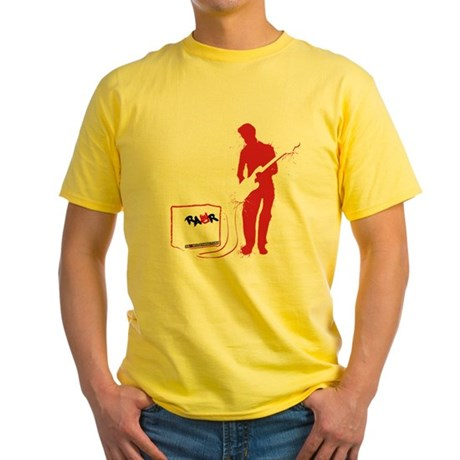 Rock Guitarist Yellow T-Shirt
