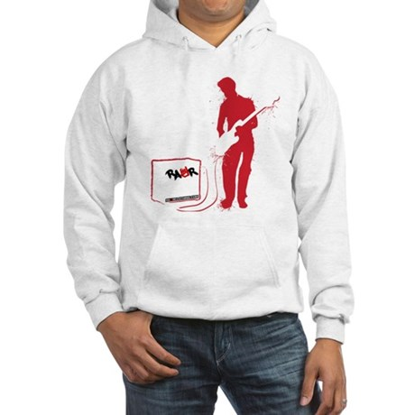 Rock Guitarist Hooded Sweatshirt