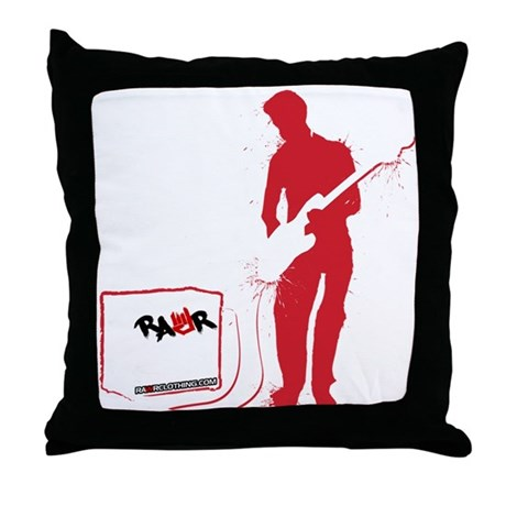 Rock Guitarist Throw Pillow