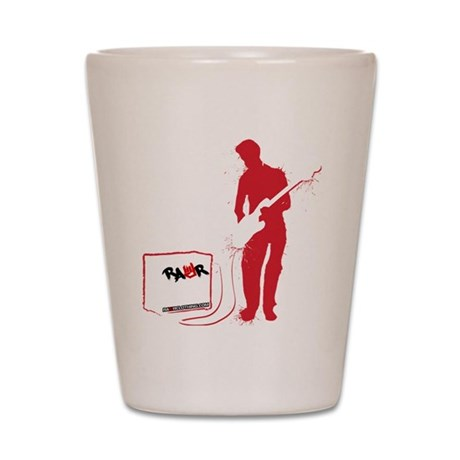 Rock Guitarist Shot Glass