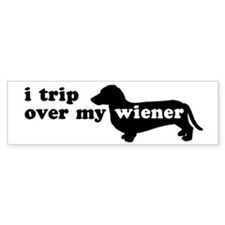 Wiener Tripping Bumper Bumper Sticker