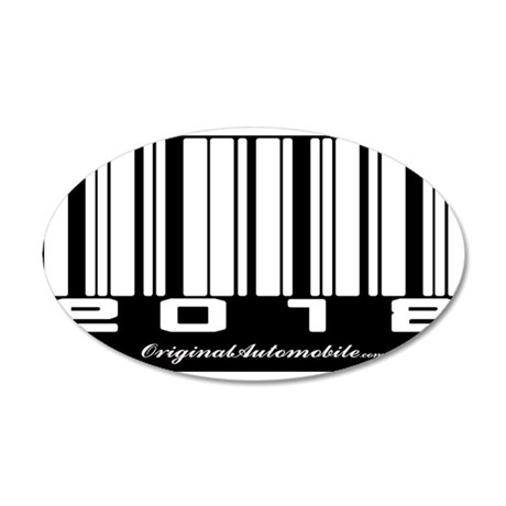 2012 Bar Code 22x14 Oval Wall Peel