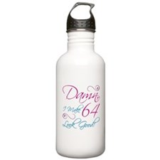 64th Birthday Humor Water Bottle