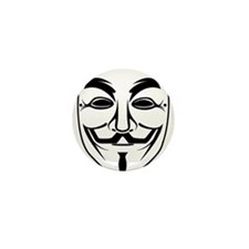 Anonymous Mask Mini Button (10 pack)