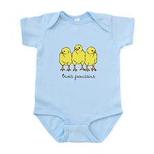Trois Poussins (3 chicks) Infant Bodysuit