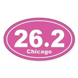 26.2 Marathon Chicago pink 3 Decal