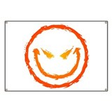 Evil Smiley Face Banner