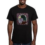 Mallard Circle Mosaic Men's Fitted T-Shirt (dark)