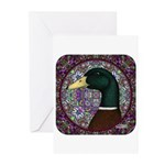 Mallard Circle Mosaic Greeting Cards (Pk of 20)