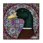 Mallard Circle Mosaic Tile Coaster